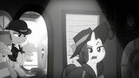 "Rarity ""looking for a pony with information"" S9E4"