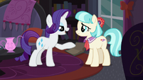 Rarity offering to help Coco S5E16