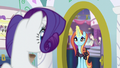 Rarity sees Sassy at her door S5E14.png