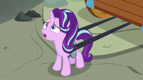 Starlight looking up the gorge walls S8E19