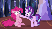 Starlight plugging Pinkie Pie's mouth S6E21