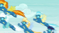The Wonderbolts finish their routine S6E7
