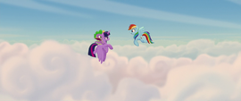 Twilight and Rainbow flying above the clouds MLPTM