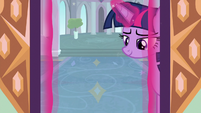 Twilight coming out of the school S9E5