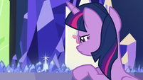 Twilight looks at Crystal Empire on Cutie Map S7E1