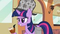 Twilight with deerstalker hat S2E24