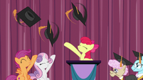 Adult Crusaders toss their graduation caps S9E22