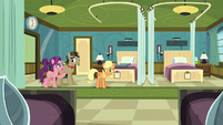 Applejack, Filthy, and Spoiled in empty hospital room S6E23