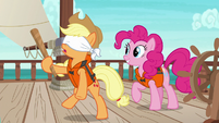 Applejack stumbling around dizzy S6E22