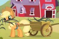 Applejack zrywa kukurydzę