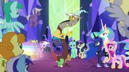 Discord, Princesses and all ponies