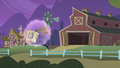 Empty water tower floats toward the barn S1E06.png