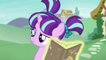 Filly Starlight looking confused at Sunburst S6E1.png