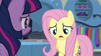 Fluttershy -acting like the ponies of Saddle Row- S8E4