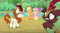 Kirin scared by Autumn Blaze's anger S8E23