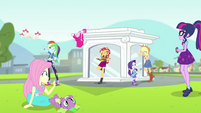 Mane Seven hanging out by the portal EGFF