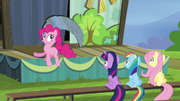 Pinkie Pie bouncing around S4E21