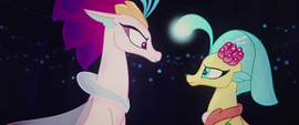 Queen Novo upset; Princess Skystar worried MLPTM