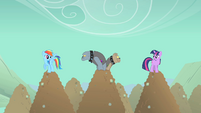 Rainbow Dash and Twilight Sparkle spot Diamond Dogs S01E19
