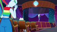 Rainbow Dash finds Trixie on stage EGSB