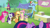 Rainbow Dash getting excited S4E22