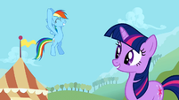Rainbow Dash wins the Bronco buck S1E13