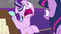 Starlight Glimmer starts to hyperventilate S9E1