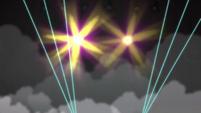 Strobe lights shining brightly CYOE2c