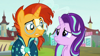 Sunburst and Starlight looking at each other S8E8
