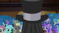Tirek appears from inside the top hat S4E25