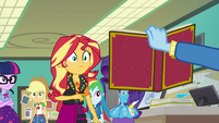 Trixie showing Sunset the old yearbook EGFF