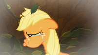 Young Applejack crying in the pit S9E10