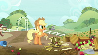 Applejack sees the farm in a mess S8E12