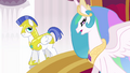 Celestia orders guards to find Cadance and Shining Armor S3E01.png