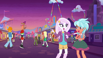 Equestria Land patrons going to light parade EGROF