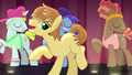 Feather Bangs singing with backup dancers S7E8.png