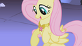 Fluttershy surprised by butterfly-shaped necklace S1E02.png