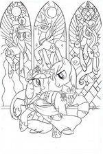 Friends Forever issue 4 cover A uncolored