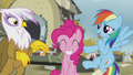 Gilda, Pinkie, and Rainbow are friends now S5E8.png