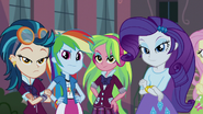 Indigo, RD, Lemon, and Rarity looking confident EG3