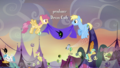Pegasi decorating Ponyville for Nightmare Night S5E21.png