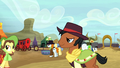 Ponies at the Appleloosa rodeo S5E6.png