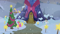 Ponies decorating the exterior of the Castle of Friendship S06E08.png