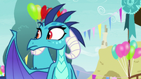 Princess Ember looking for Twilight Sparkle S7E15