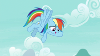 "Rainbow Dash ""I was trying to send them up"" S7E23"