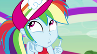 Rainbow Dash looking clueless EGSB