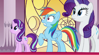 Rainbow Dash looking nervous S7E25