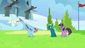 Rainbow and Vapor arrive to the same field S6E24.png