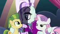 Rara with super-teeth colt and Sweetie Belle S5E24