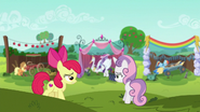 S06E14 Apple Bloom i Sweetie Belle na wzgórzu